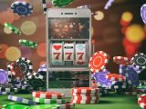 Slot machine on a smartphone screen