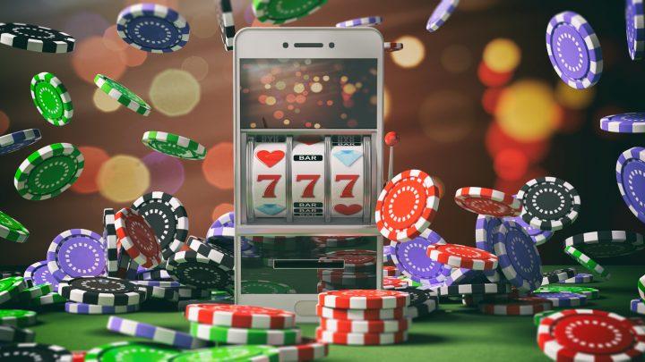 Slot machine on a smartphone screen